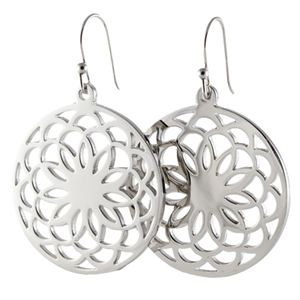 Picture of Silver Flower Screen Earrings